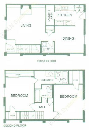 1,282 sq. ft. floor plan