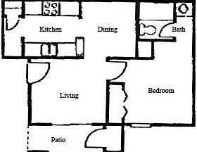 495 sq. ft. floor plan