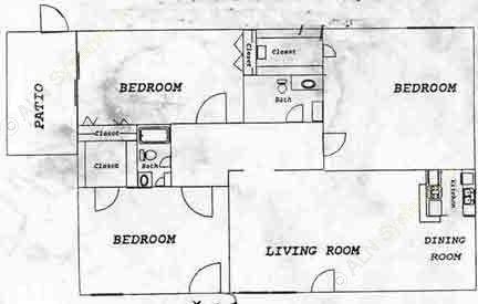 1,196 sq. ft. floor plan