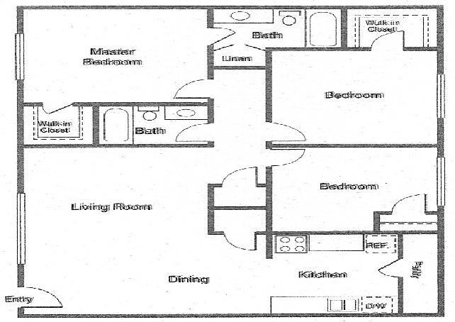 1,100 sq. ft. SHEFFIELD floor plan