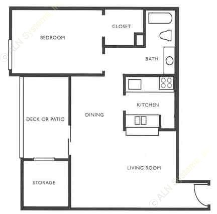 720 sq. ft. A4 floor plan