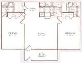978 sq. ft. G floor plan