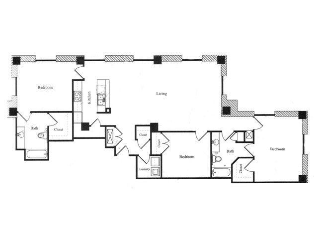 1,344 sq. ft. S floor plan