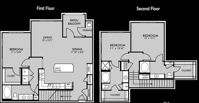 1,717 sq. ft. C1 floor plan