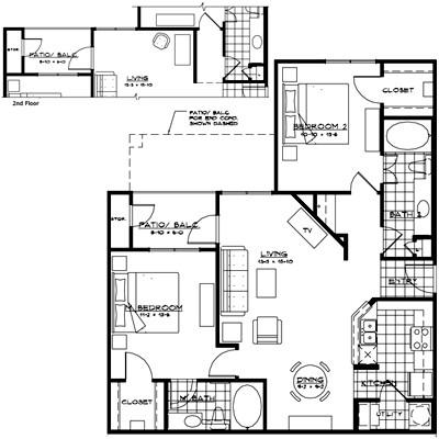 1,092 sq. ft. FLORENCE floor plan