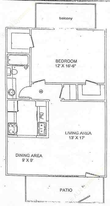 710 sq. ft. floor plan