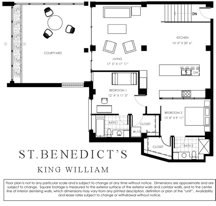 1,388 sq. ft. floor plan
