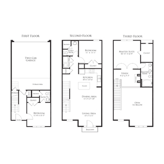 1,513 sq. ft. 2THC1.1GG floor plan