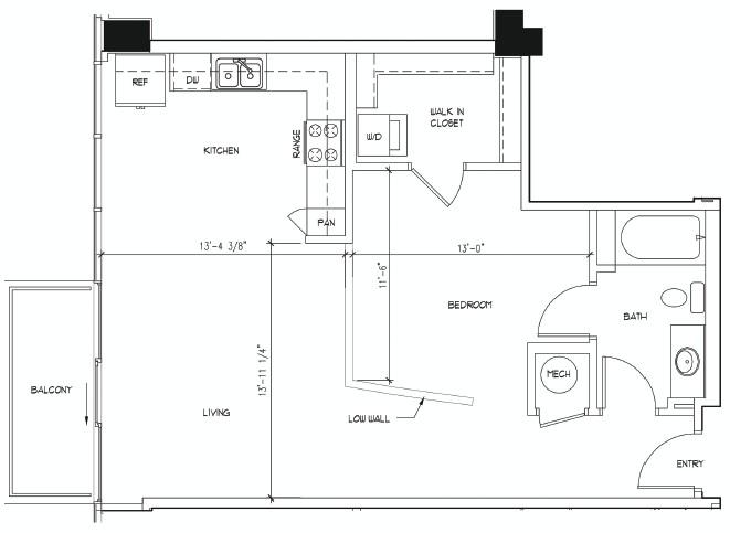 757 sq. ft. BOTTICELLI floor plan