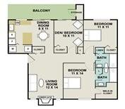 1,122 sq. ft. NAUTICA floor plan