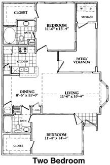1,162 sq. ft. to 1,174 sq. ft. D floor plan