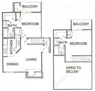935 sq. ft. floor plan