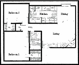 765 sq. ft. floor plan