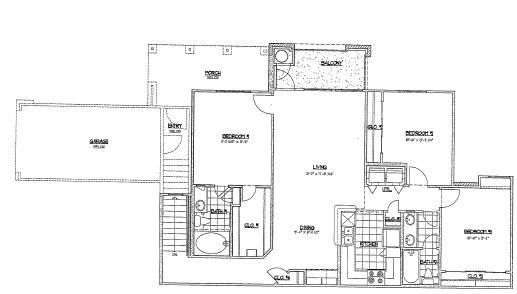 1,239 sq. ft. G4 floor plan