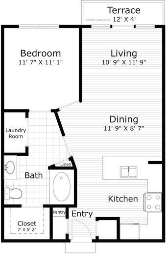 748 sq. ft. Matisse HC 60 floor plan