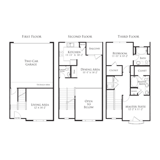 1,410 sq. ft. 2THB4.4GG floor plan
