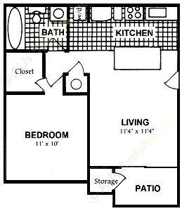 502 sq. ft. A floor plan