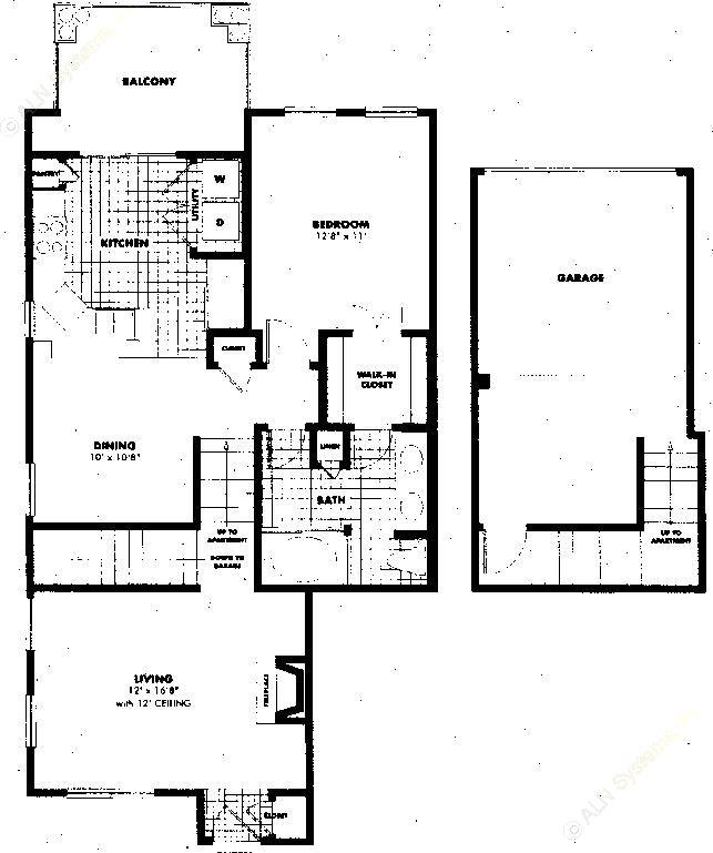 924 sq. ft. A5 floor plan