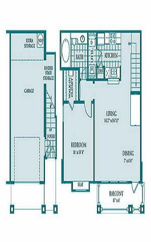 785 sq. ft. ONYX floor plan
