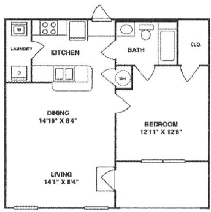 740 sq. ft. A1 LOWER floor plan