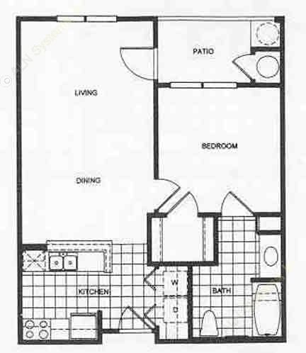 650 sq. ft. 50 floor plan