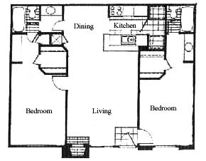937 sq. ft. floor plan