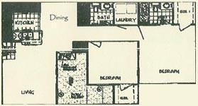 1,011 sq. ft. BLANFORD floor plan