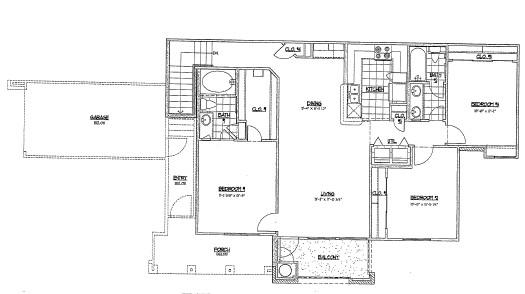 1,325 sq. ft. G2 floor plan