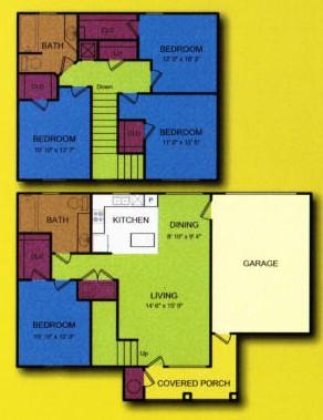 1,445 sq. ft. Aspen-MKT floor plan