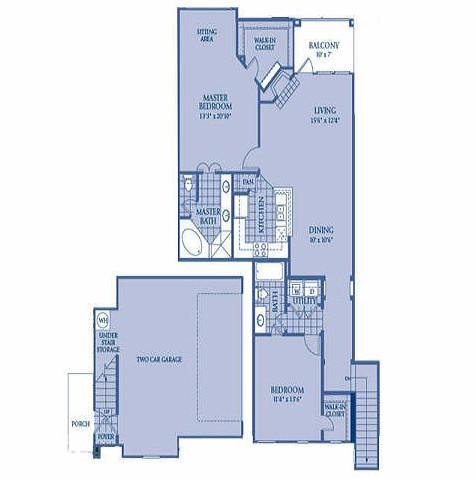 1,364 sq. ft. RUBY floor plan