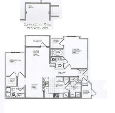1,029 sq. ft. B 60% floor plan