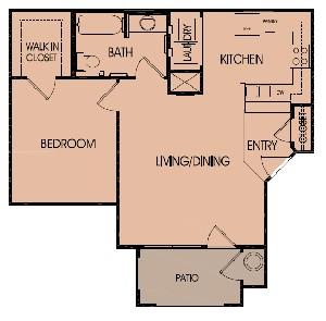690 sq. ft. 60 floor plan