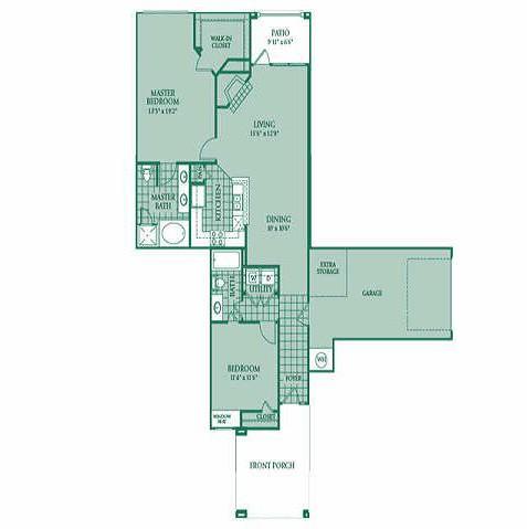 1,246 sq. ft. OPAL floor plan