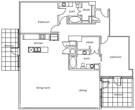 1,681 sq. ft. 1407 G floor plan