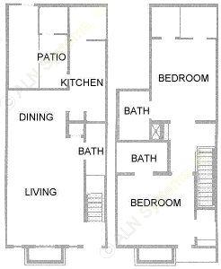 1,137 sq. ft. floor plan