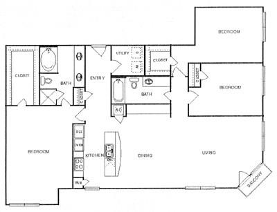 1,668 sq. ft. Votive floor plan