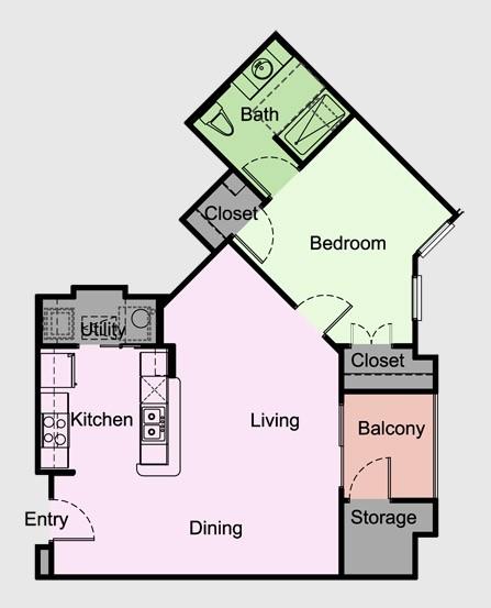 765 sq. ft. Aberdeen/A5 floor plan
