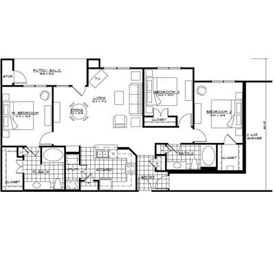 1,420 sq. ft. floor plan