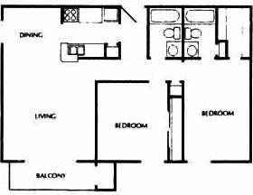 904 sq. ft. E floor plan