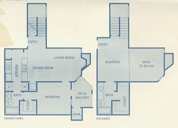 1,115 sq. ft. B5 floor plan