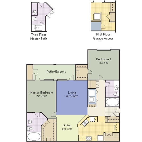 1,194 sq. ft. BELEVERDE floor plan