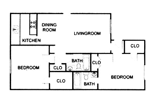1,020 sq. ft. B3/ABP floor plan