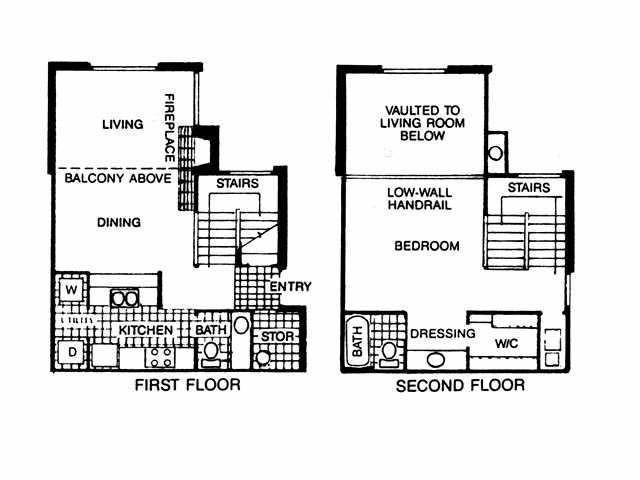 939 sq. ft. A3 floor plan