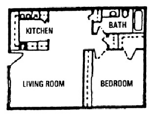 776 sq. ft. B floor plan