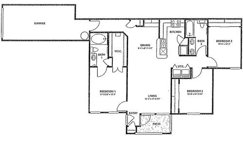 1,234 sq. ft. 60 floor plan