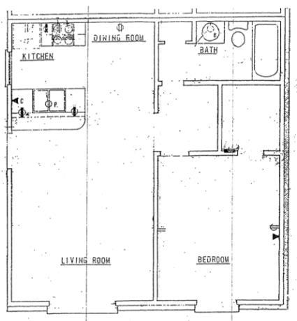 631 sq. ft. floor plan