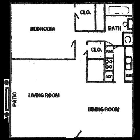 562 sq. ft. floor plan