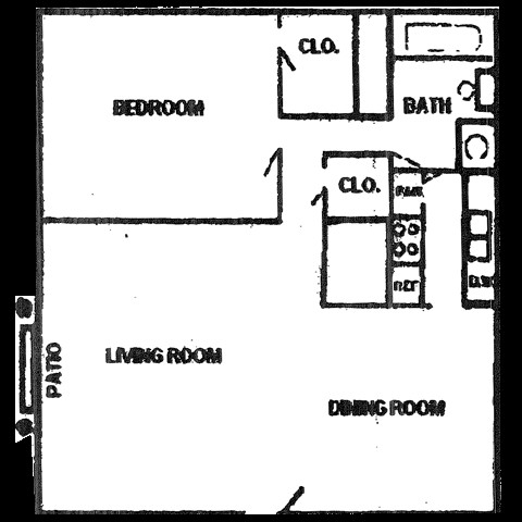 562 sq. ft. floor plan