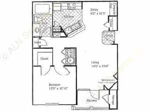 791 sq. ft. ST ANDREWS floor plan