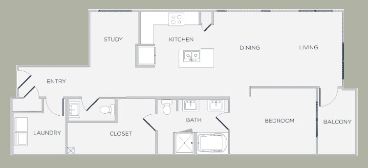 1,146 sq. ft. floor plan